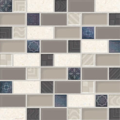 paredes mosaico retro beige