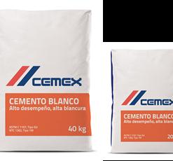 saco cemento blanco